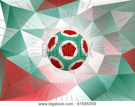 Mexico Soccer Ball Background