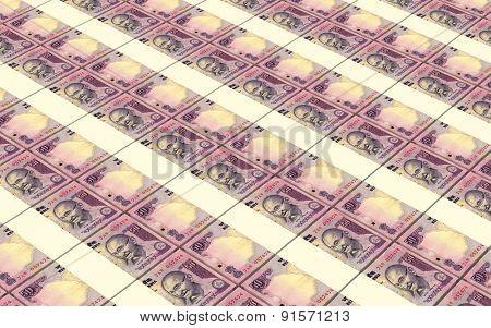 India Rupee bills stacks background.