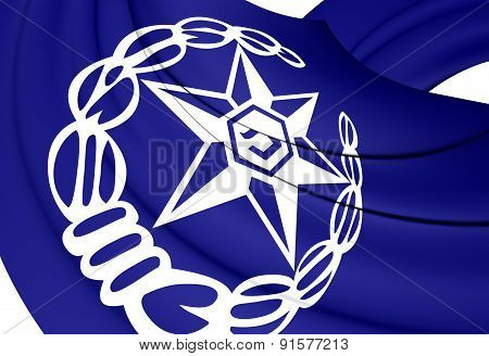 3D Flag of Israel Police. Close Up. poster
