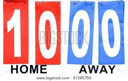 Scoreboard Home Wins Away Lose