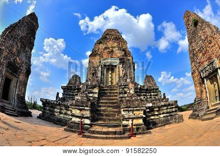 Ancient Angkor Temple In Cambodia