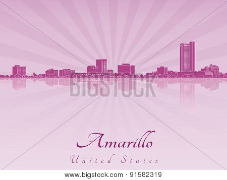 Amarillo Skyline In Purple Radiant Orchid