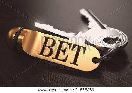 Bet written on Golden Keyring.