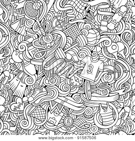 Seamless abstract pattern sports and fitness