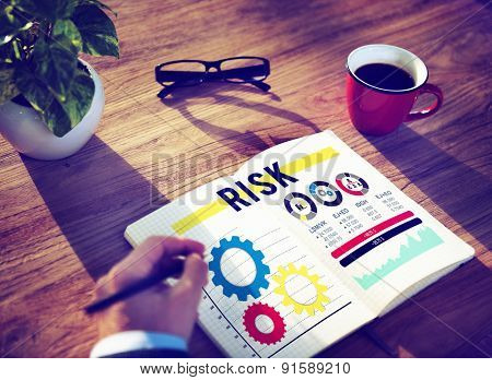 Risk Risk Management Dangerous Safety Security Concept