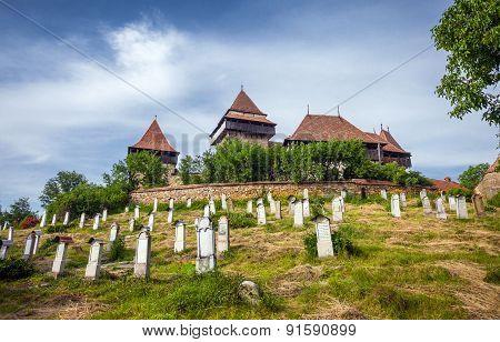 Fortified Church Cemetery At Viscri In Transylvania