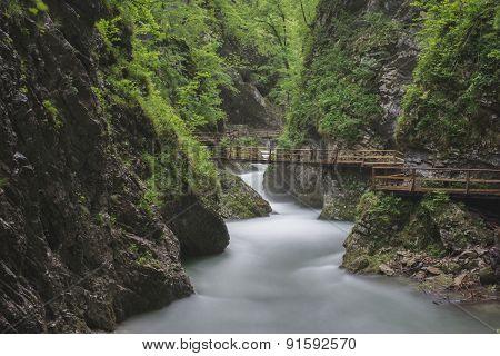 Beautiful nature, Vintgar Gorge, Slovenia