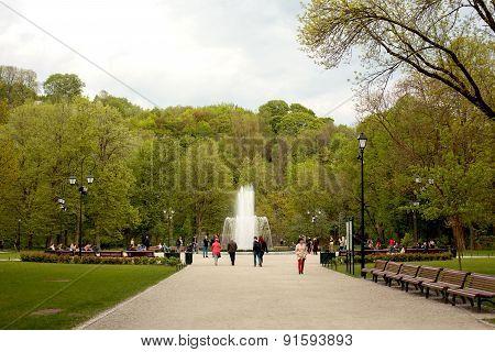 Fountain In Bernardinai Garden