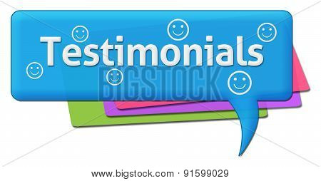 Testimonials Colorful Comment Symbols