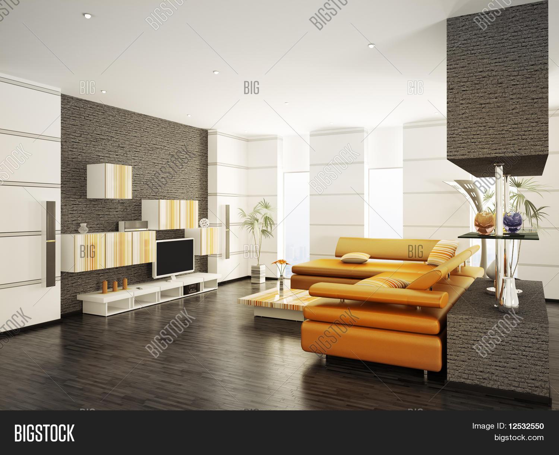 Modern Living Room Interior 3D Image & Photo | Bigstock