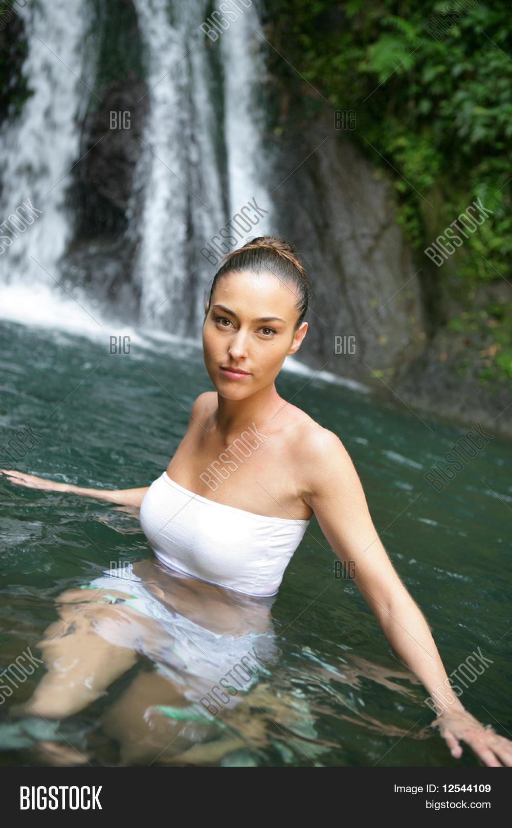Portrait Young Woman Bathing Next Image & Photo | Bigstock