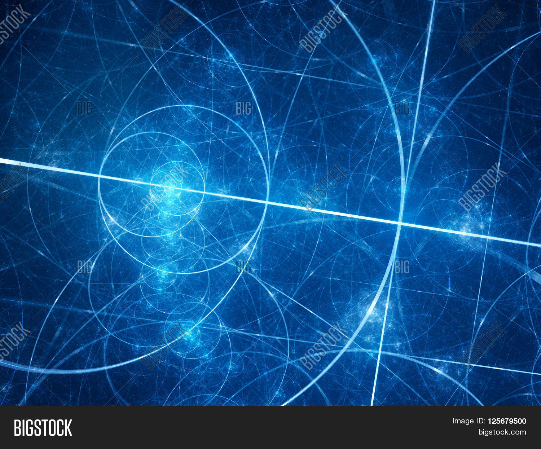 Blue Glowing Fibonacci Image & Photo (Free Trial)