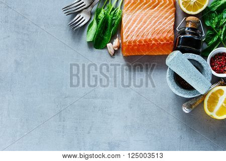 Salmon Fillet With Fresh Ingredients