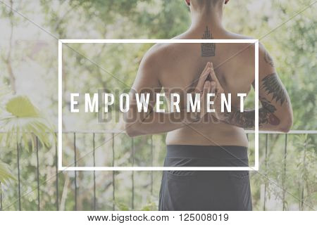Empowerment Allow Authority Empower Enable Concept poster