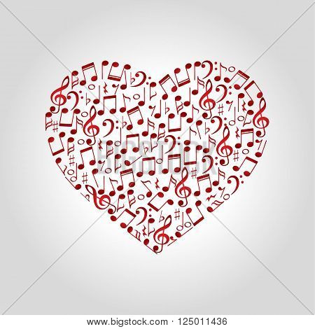 heart music logo icon and shape vector illustration