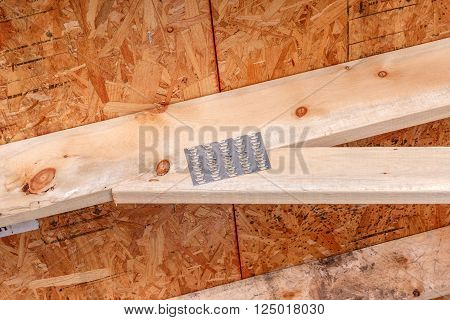 Rafter joint on a newly constucted building.