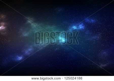 Colorful abstract background of cosmic space galaxy.