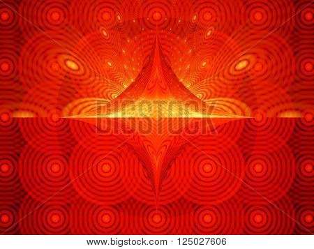 Fiery hypnotic surfaces computer generated abstract background