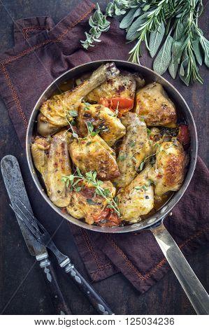 Lemon Chicken in Casserole