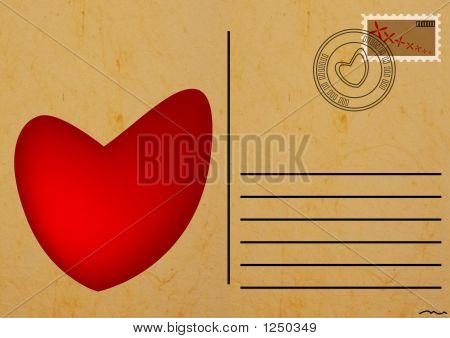 Postcard With Heart