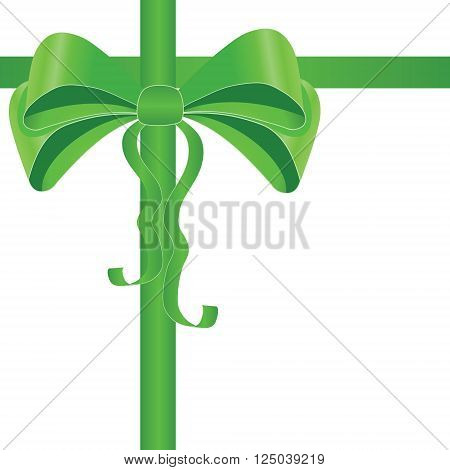 Silky bow with wavy ribbons. Design element for gift cards presents postcards boxes presentations special offers and etc