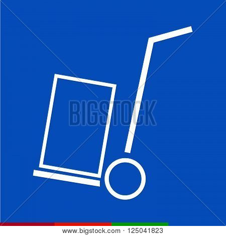 an images of Thin Line Handcart Icon Illustration design