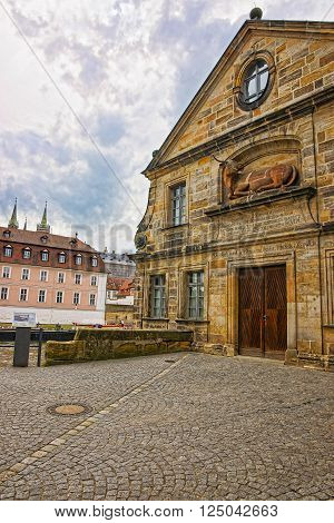 Former slaughter house in Bamberg in Germany. Now it is a building of University of Bamberg.