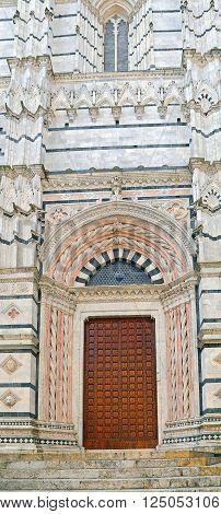 Wonderful Doorway of  Siena Baptistery  - Tuscany, Italy