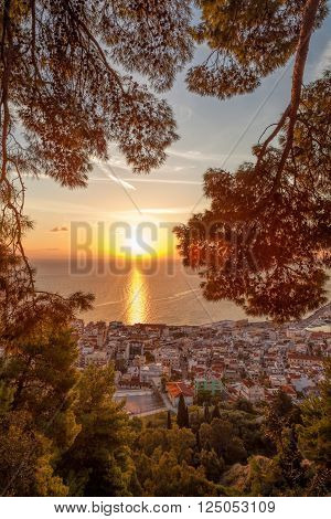 Zante town during sunrise on Zakynthos island in Greece ** Note: Soft Focus at 100%, best at smaller sizes
