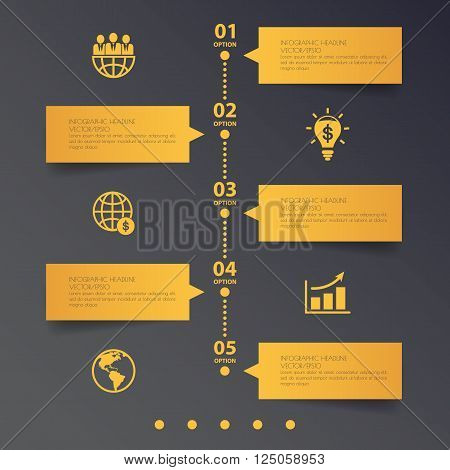 Business Template. Can Be Used For Workflow Layout, Banner, Diagram, Web Design, Infographic Templat