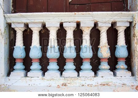 Antique balusters in Cartagena de Indias, Colombia