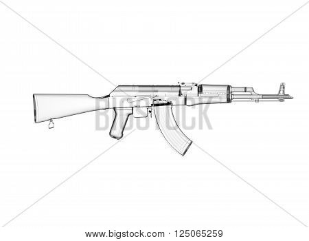 Akm Assault Rifle 3d Image & Photo (Free Trial) | Bigstock