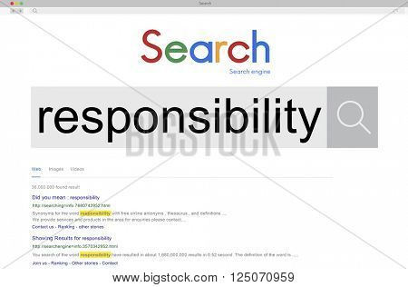 Responsibility Responsible Reliability Duty Job Concept