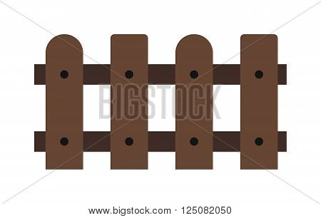 Wooden fence isolated on background. Garden fences vector illustration. Fences railing vector isolated.Wooden long fence, vector fence.Wooden fence silhouette construction isolated.Wooden garden fence