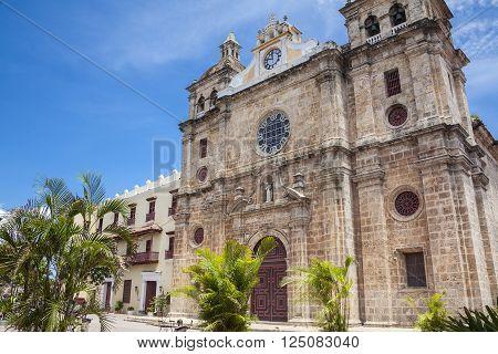 San Pedro Claver Church in Cartagena de Indias