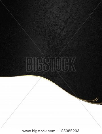 Black Template For Design. Copy Space For Ad Brochure Or Announcement Invitation, Abstract Backgroun