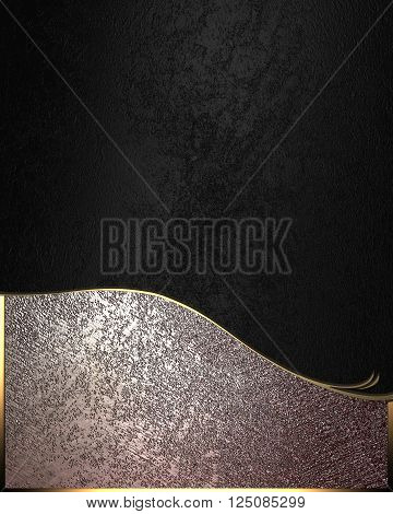 Black And Brown Texture. Template For Design. Copy Space For Ad Brochure Or Announcement Invitation,
