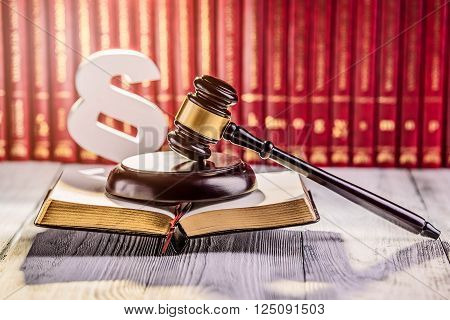 Gavel And Wooden Paragraph