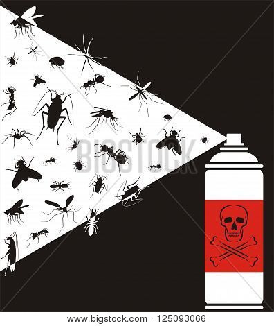 pest control - vector  pests exterminate spray
