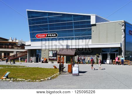 WHISTLER, BC, CANADA - August 18, 2015 :The Peak to Peak Gondola Station, Whistler, BC Canada, August 18, 2015