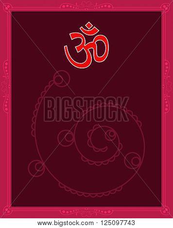 Aum (Om) The Holy Motif Raster Art poster