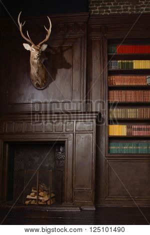Classical Library Room  In The Victorian Style