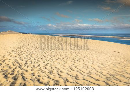 View from the highest dune in Europe - Dune of Pyla (Pilat) Arcachon Bay Aquitaine France poster