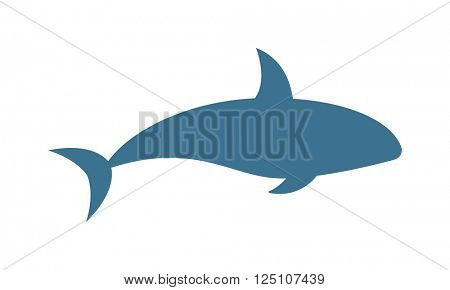 Killer whale Orcinus orca vector isolated on white background