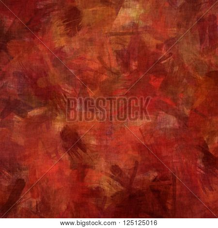Abstract,painterly background in reds and orange tones.