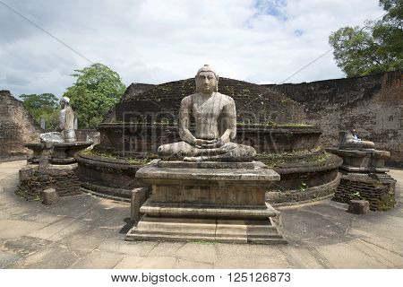 POLONNARUWA, SRI LANKA - MARCH 15, 2015: A view of the