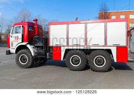 Kamaz 43253 As A Russian Fire Engine Side View