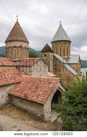 Ananuri Castle a medieval castle and church complex on the Aragvi River in Georgia