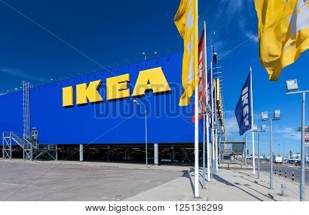 SAMARA RUSSIA - JUNE 14 2015: IKEA Samara Store. IKEA is the world's largest furniture retailer and sells ready to assemble furniture
