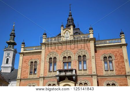 Vladicin Court Palace of Bishop and Church of the Holy Great-Martyr George in Novi Sad Serbia